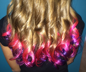 blond, color hair, and dye image