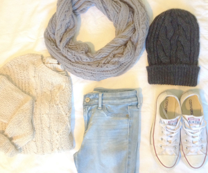 fall, jeans, and outfit image