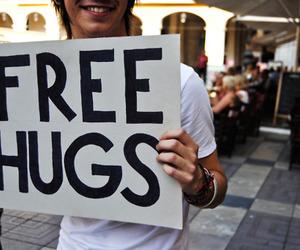 hug, boy, and free hugs image