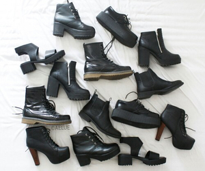 black, dark, and boots image