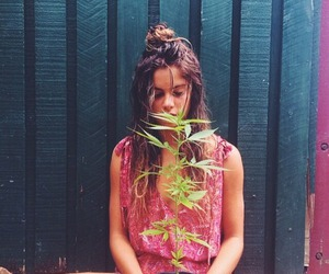 girl, nature, and plant image