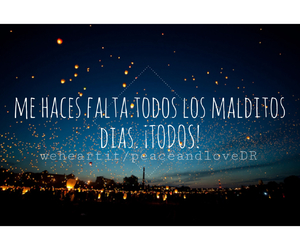 i need you, spanish, and quotes image