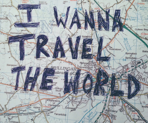 travel, world, and map image