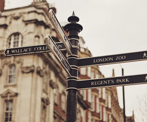 london, city, and street image
