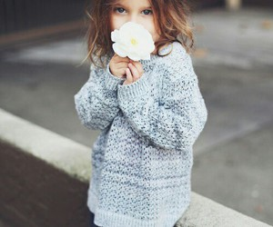 cute kids, flower, and street fashion image