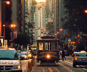 city, car, and photography image