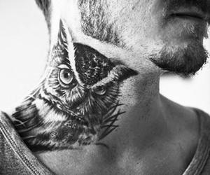 tattoo, owl, and boy image