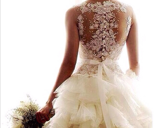 Dream, lace, and wedding dress image