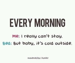 bed, funny, and morning image