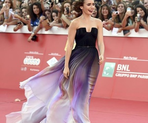 lily collins, dress, and rome image