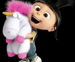 unicorn, agnes, and minions image