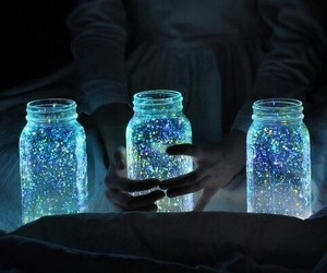 blue, sparkle is so cal, and jar image
