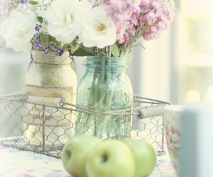 pastel, bridal, and flowers image