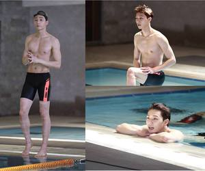 abs, shirtless, and seo joon image