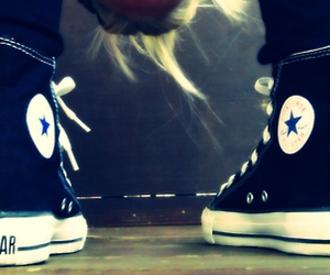 all star, blonde, and converse image
