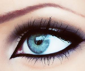 make up, blue, and eye image