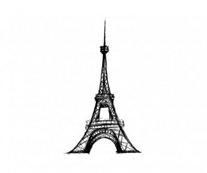 art, black, and eiffel tower image