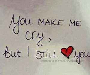 love, cry, and quotes image