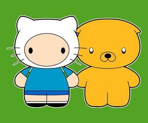 hello kitty and adventure time characters image