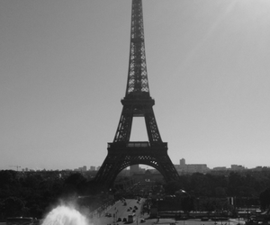 travel, black and white, and paris image