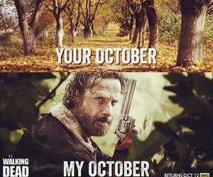 october, season 5, and walking dead image