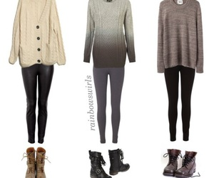 fall, outfits, and school image