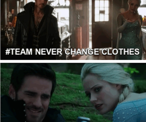 once upon a time, captain hook, and elsa image