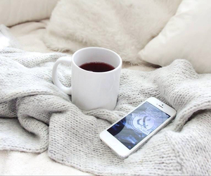 autumn, bed, and tea image