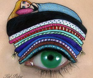 makeup, eye, and art image