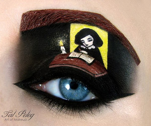eye, art, and makeup image