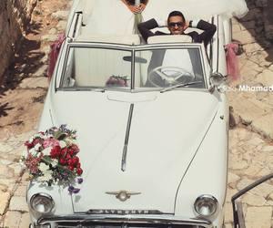 love, wedding, and car image