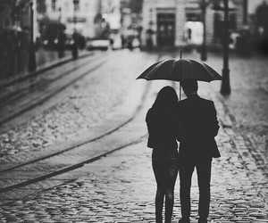 black and white, together, and couple image