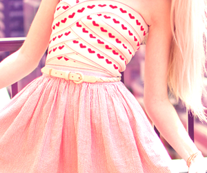 belt, bright, and pink image
