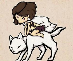 ghibli, anime, and wolf image