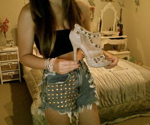 fashion, shoes, and shorts image