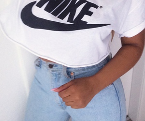 girls, nike, and jeans image