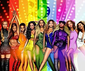 beyoncé, Queen, and rainbow image