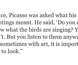 art, picasso, and quote image