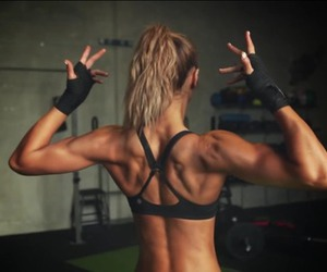 back, girl, and muscles image