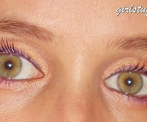 olhos verdes, make up, and green eyes image