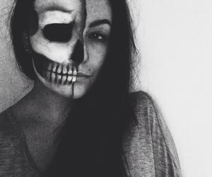 Halloween, halloween costume, and skull image