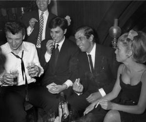 Alain Delon, Roger Vadim, and catherine deneuve image