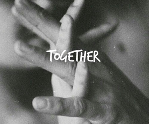 couple, cute, and hand image