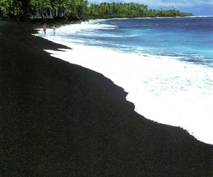 beach and black image