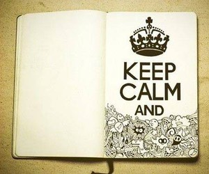 keep calm, book, and doodle image
