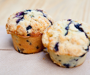 blueberries and muffins image