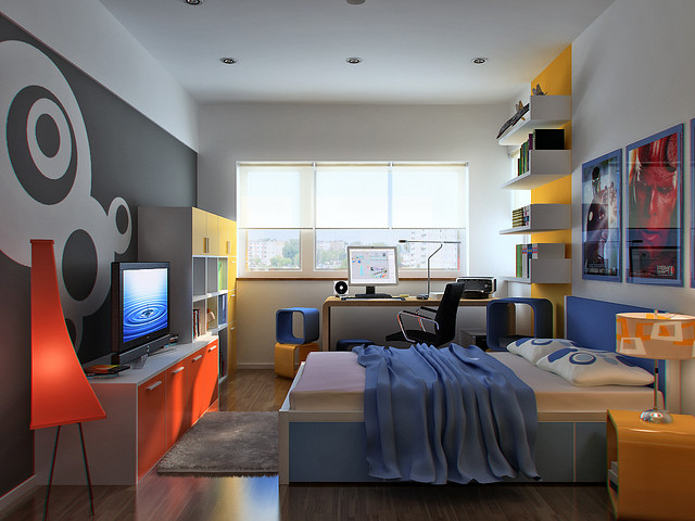 Bedroom Designs The Cool Picture Designs Of Colors For Boys Rooms That Can Be Your Nice Example Beautiful Grey Color Wall Nice Large Window White Roof Picture Designs Nice Small Square Shaped