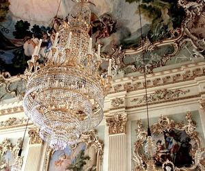 baroque, chandelier, and interior image