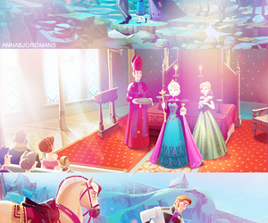anna, frozen, and elsa image