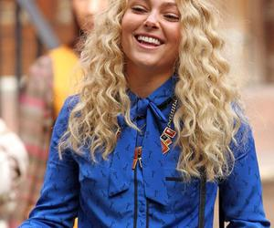 blonde, curly, and smile image